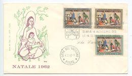 Vatican 1962 FDC Scott 353-355 Christmas - Nativity Scene - FDC