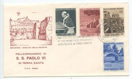 Vatican 1964 FDC Scott 375-378 Visit Of Pope Paul VI To The Holy Land - FDC