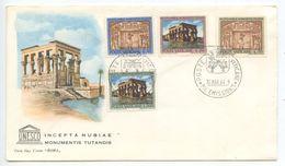 Vatican 1964 FDC Scott 379-382 UNESCO & Monuments In Nubia - FDC