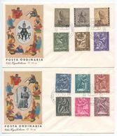 Vatican 1966 2 FDCs Scott 423-432, E17-E18 Bas-Reliefs By Manfrini & Rudelli - FDC
