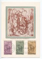 Vatican 1966 FDC Postcard Scott 445-447 Christmas, Nativity Sculpture, Scorzelli - FDC