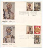 Vatican 1967 2 FDCs Sc. 448-452 1900th Anniv Martyrdom Of Apostles Peter & Paul - FDC