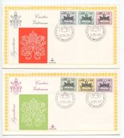 Vatican 1968 2 FDCs Scott J19-J24 Postage Due Stamps - FDC
