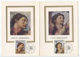 Vatican 1970 3 FDCs Postcards Scott 492-494 United Nations 25th Anniversary - FDC