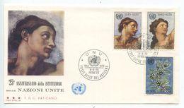 Vatican 1970 FDC Scott 492-494 United Nations 25th Anniversary - FDC