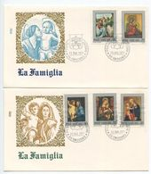 Vatican 1971 2 FDCs Scott 504-508 Madonna & Child Paintings - FDC