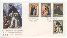 Vatican 1971 FDC Scott 509-512 St. Dominic De Guzman, Dominican Order Founder - FDC