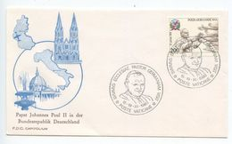 Vatican 1980 Cover Papal Visit By Pope John Paul II To Germany, Scott C66 - Vatican