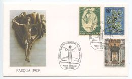 Vatican 1989 Cover Easter - Surrexit Christus De Sepulcro Allelvia Allelvia - Vatican