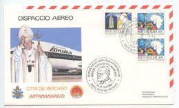 Vatican 1989 Cover Papal Visit Of Pope John Paul II To Madagascar - Vatican