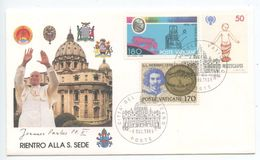 Vatican 1989 Cover Return To The Holy See Of Pope John Paul II - Vatican