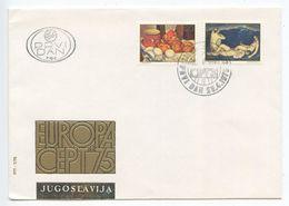 Yugoslavia 1975 FDC Scott 1252-1253 Europa - Art By Mosa Pijade & Ivan Radovic - FDC