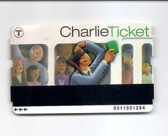 TRANSIT BOSTON MASS USA CHARLIE TICKET 2009 - USED NO VALUE - Metro