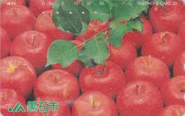 Télécarte  Japon / 410-17208 - Fruit - POMME - APPLE Fruits Japan Phonecard - APFEL Obst TK - 100 - Alimentation