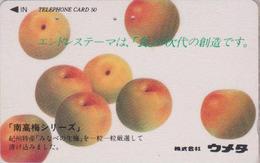 Télécarte Ancienne Japon / 110-011 - Fruit - POMME - APPLE Fruits Japan Phonecard - APFEL Obst TK - 104 - Alimentation
