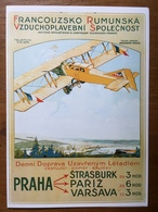 (aviation) Ancien Menu Air France Reproduisant Une Affiche De Charles Blitz De 1922 - Menus