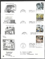 US 1999-2000   Celebrate The Century All In The Family, I Love Lucy, Cosby, Seinfeld TV Shows On 4 FDCs - Ersttagsbelege (FDC)