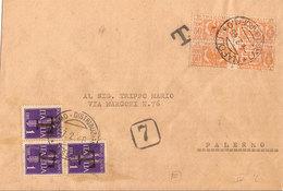 (St.Post.).Luogotenenza.1946.Lettera Del 4-2-46 Tassata Per Tariffa Insufficente (28-18) - 1944-46 Lieutenance & Humbert II