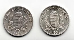 1 PENGO   1937  1938 - Hongrie