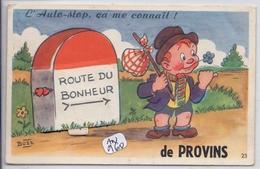 PROVINS- CARTE A SYSTEME- CAP 23- COMPLET- RARE- L AUTO-STOP - Provins