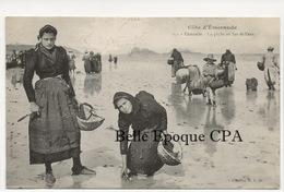 35 - CANCALE - La Pêche Au Bas De L'eau +++ HLM, #251 +++ Texte Effacé Au Recto - Cancale