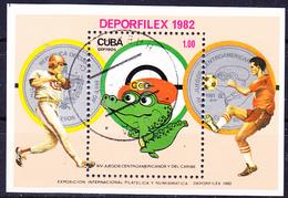 Kuba Cuba - Internationale Philatelie- Und Numismatik-Ausstellung DEPORFILEX '82 (Mi.Nr.: Bl. 73) 1982 - Gest Used Obl - Blocchi & Foglietti