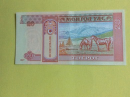 Mongolie : Billet 20 Tugrik  (Neuf) - Mongolie