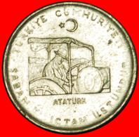 # Ataturk On Tractor (1881-1938):  TURKEY ★ 10 KURUS 1975 FAO!  LOW START ★ NO RESERVE! - Turquie