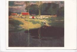Johann Walter-Kurau / I. Walters Evening. Landscape With Small River, Unused Postcard [22656] - Paintings