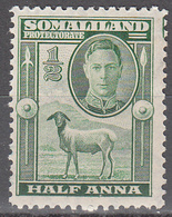 SOMALILAND PROTECTORATE    SCOTT NO  96   MINT HINGED     YEAR  1942 - Somaliland (Protectorate ...-1959)