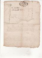 Gen Auch Et Pau 4 Juillet 1728 Plan Du Bois De Saman - Cachets Généralité