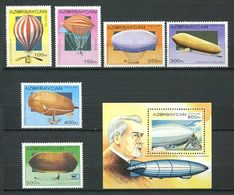 242 AZERBAIDJAN 1995 - Yvert 224/29 BF 16 - Dirigeable Ballon - Neuf ** (MNH) Sans Trace De Charniere - Azerbaïjan