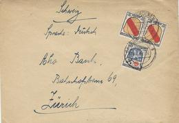 Nv. 1946- Zone Française  De Sarrebruck  Pour Zürich Affr. à 75 F - 1947-56 Occupation Alliée