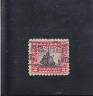 """CHALOUPE """" RESTAURATIONEN """" / OBLITéRé/ 2C CARMIN ET NOIR / N° 263 YVERT ET TELLIER 1925 - Etats-Unis"""
