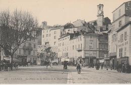 19 / 1 / 104  - CANNES  ( 06 )  LA  PLACE  DE  LA  MAIRIE  &  MONT  CHEVALIER Dos  - Divisé  Simple   Circulé  -  Oui  N - Cannes