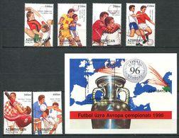 242 AZERBAIDJAN 1996 - Yvert 301/06 BF 27 - Football Coupe Europe Des Nations - Neuf ** (MNH) Sans Trace De Charniere - Azerbaïdjan