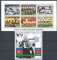 242 AZERBAIDJAN 1997 - Yvert 319/24 BF 29 - Football Coupe Du Monde 98 - Neuf ** (MNH) Sans Trace De Charniere - Azerbaïdjan