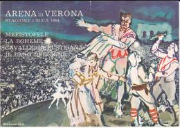 VP-GF.19-006 : PROGRAMME OPERA VERONA. 1964. LA BOHEME. MEFISTOFELE. CAVALLERIA RUSTIGANA. IL LAGO DEI CIGNI - Musique & Instruments
