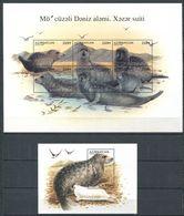 242 AZERBAIDJAN 1997 - Yvert 346/51 BF 35 A - Phoque De La Mer Caspienne - Neuf ** (MNH) Sans Trace De Charniere - Azerbaïdjan