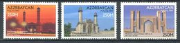 242 AZERBAIDJAN 1997 - Yvert 356/58 - Mosquee - Neuf ** (MNH) Sans Trace De Charniere - Azerbaïdjan