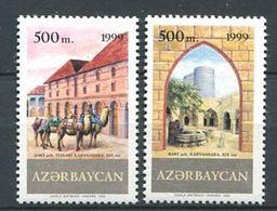 242 AZERBAIDJAN 1999 - Yvert 392 A/B - Route De La Soie Chameau - Neuf ** (MNH) Sans Trace De Charniere - Azerbaïdjan