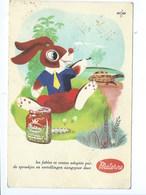 """Carte Publicitaire 1960 Materne Malonne """" Le Lièvre Et La Tortue """" - Namur"""