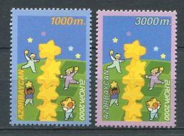242 AZERBAIDJAN 2000 - Yvert 393 94 - Europa Colonne Etoile Enfant - Neuf ** (MNH) Sans Trace De Charniere - Azerbaïdjan