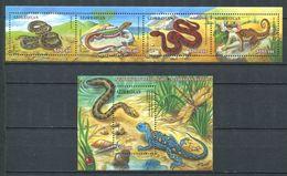 242 AZERBAIDJAN 2000 - Yvert 402/05 BF 49 - Reptile Vipere Lezard - Neuf ** (MNH) Sans Trace De Charniere - Azerbaïdjan