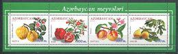 242 AZERBAIDJAN 2000 - Yvert 410/13 - Fruit Et Fleur - Neuf ** (MNH) Sans Trace De Charniere - Azerbaïdjan