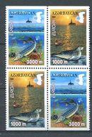 242 AZERBAIDJAN 2001 - Yvert 417a/b 418a/b - Phoque Poisson - Neuf ** (MNH) Sans Trace De Charniere - Azerbaïdjan