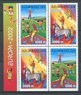 242 AZERBAIDJAN 2002 - Yvert 431a/b 432a/b - Europa Cirque Cheval Jonglage - Neuf ** (MNH) Sans Trace De Charniere - Azerbaïdjan