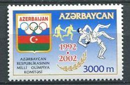 242 AZERBAIDJAN 2002 - Yvert 433 - Logo JO Lutte Course Relais - Neuf ** (MNH) Sans Trace De Charniere - Azerbaïdjan