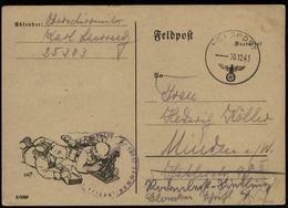P0226 - DR Feldpost Postkarte Mit Bild Granatwerfer : Gebraucht FP. Nr. 25303  - Minden 1941, Bedarfserhaltung , Regri - Deutschland