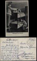 3. Reich - DR Militär Feldpost Postkarte , Bettenbau : Gebraucht Landeshut - Eggenthal 1941 , Bedarfserhaltung. - Allemagne